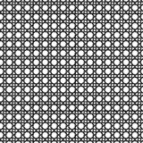Rattan chair pattern. Illustration of a rattan pattern weave in black isolated on a white background vector illustration