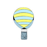 Illustration rayée chaude de vecteur de ballon à air Illustration Libre de Droits
