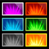 Illustration of rays of light Royalty Free Stock Image