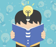 Illustration reading a book Stock Photos
