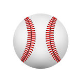 Illustration  of  realistic  baseball leather ball. Isolated on wh Royalty Free Stock Image