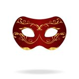 Illustration of realistic carnival or theater mask Stock Images