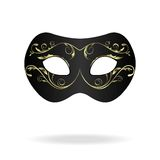 Illustration of realistic carnival or theater mask Stock Image