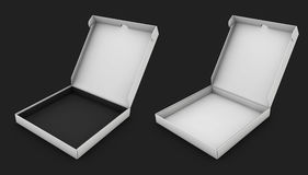 Illustration of realistic empty book boxes, isolated black. 3d Illustration of realistic empty book boxes, isolated black Royalty Free Stock Photos