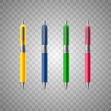 Realistic pen illustration royalty free illustration