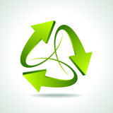 Illustration of recycle arrow on isolated background Stock Photography