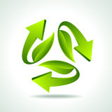 Illustration of recycle arrow on isolated background Royalty Free Stock Images