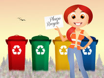 Illustration of recycle Royalty Free Stock Images