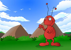 Happy ant Royalty Free Stock Images
