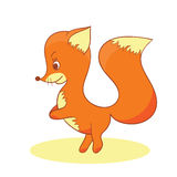 Illustration of red baby fox Royalty Free Stock Photos