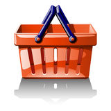 Illustration of red basket for shoping Stock Photography