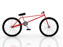 Illustration of a red bicycle isolated on white Stock Photography