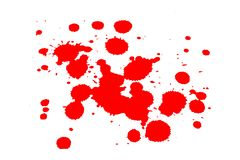 Red ink blot on white stock photo