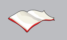 Illustration of red book. Illustration of a red opened book stock illustration