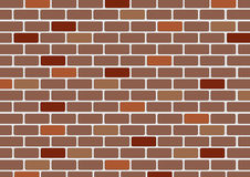 Illustration of a red brick wall Royalty Free Stock Photography