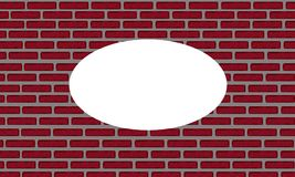 An illustration of a red brick wall Royalty Free Stock Image