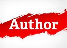 Illustration Red Brush Abstract-Autor Hintergrund- vektor abbildung