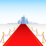 Red Carpet Building Royalty Free Stock Images