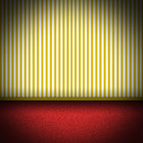 Illustration of red carpet floor with yellow strip Royalty Free Stock Photo