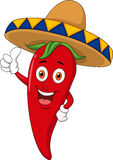 Chili cartoon character with thumb up Stock Image