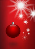 Illustration of red christmas ball Stock Image
