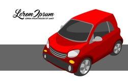 Illustration of Red City Car stock illustration