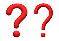 Illustration of red 3d rendered question marks Stock Photos
