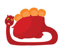 illustration of a red dino Royalty Free Stock Photo