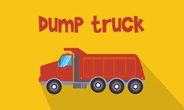Illustration of red dump truck. Collection stock Stock Photography