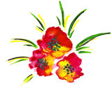 Illustration of red flowers Royalty Free Stock Photo