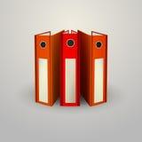Illustration of red folders Stock Photo