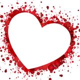 Heart red background. Illustration of red heart background Royalty Free Stock Photo