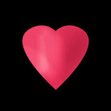 Illustration of red heart, Valentines Day print Royalty Free Stock Photos