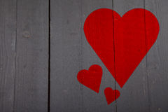 Illustration of red heart Royalty Free Stock Photos
