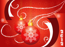 illustration red new year background Royalty Free Stock Photos