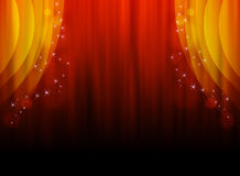 Illustration of a red-orange curtain. royalty free stock image