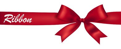 Red ribbon banner Stock Images