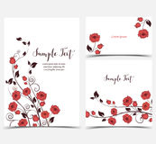 Illustration of red roses Stock Images