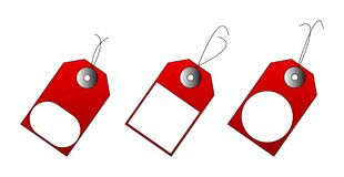Illustration of red sales tags Royalty Free Stock Photo