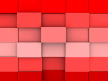 Illustration of a red square abstract background Royalty Free Stock Image