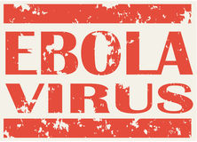 Illustration of red stamp with words Ebola Virus Royalty Free Stock Photos