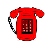 Illustration of a red telephone Stock Images
