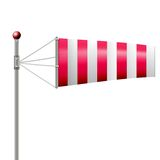 Illustration of red windsock Stock Photo