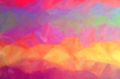 Illustration of red, yellow, purple, green and blue dry brush oil paint horizontal background. Illustration of red, yellow, purple, green and blue dry brush oil royalty free illustration