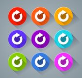 Refresh icons with various colors Royalty Free Stock Images