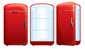 Illustration of the refrigerator. Vector illustration of the retro refrigerator Stock Images