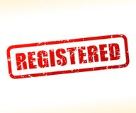 Registered text stamp. Illustration of registered text stamp Stock Images