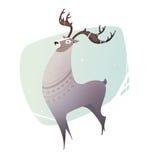 Illustration Reindeer breeding. Stock Image
