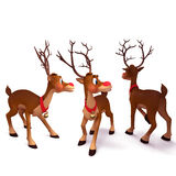 Illustration of reindeer is running Stock Photos
