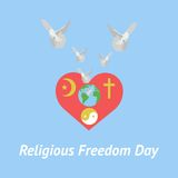 Illustration of religious freedom day Royalty Free Stock Photo
